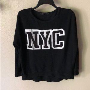 ZARA NYC high low  pull over sweatshirt size M